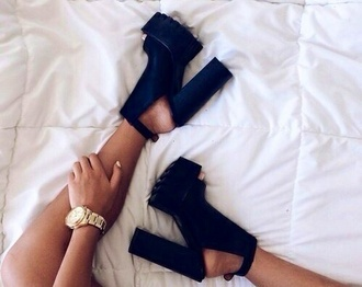 shoes high heels edgy with a platform