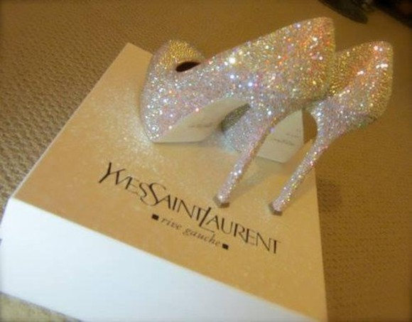 white yves saint laurent ysl shoes talon luxe