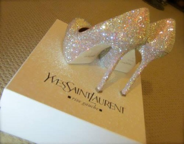 shoes ysl talon yves saint laurent white luxe