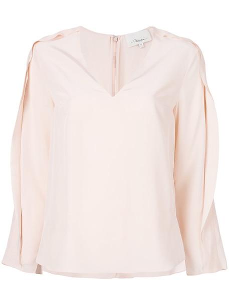 3.1 Phillip Lim blouse ruffle women silk purple pink top