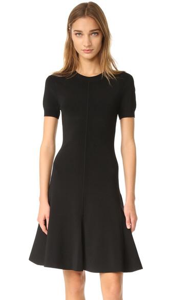 dress flare dress short flare black