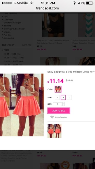 dress coral pink white lace