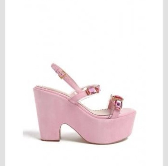 shoes cute platform shoes pink