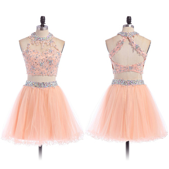 dress prom prom dress pink pastel pastel dress crystal gemstone love pretty coral two piece dress set lovely fashion cute cute dress trendy girly vogue wow cool short mini mini dress