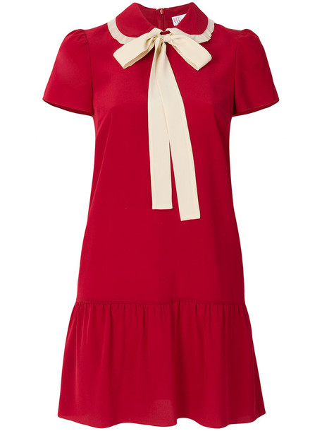RED VALENTINO dress mini dress bow mini women silk red