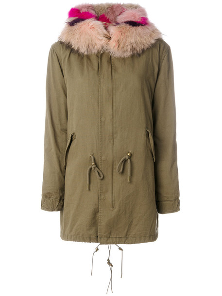 Cara Mila parka fur fox women cotton green coat