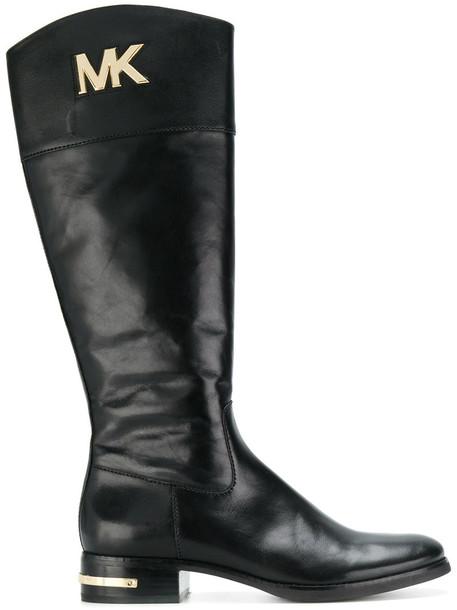 MICHAEL Michael Kors women leather black shoes