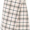 Carven - checked wrap skirt - women - polyamide/acetate/viscose/other fibers - 40, nude/neutrals, polyamide/acetate/viscose/other fibers