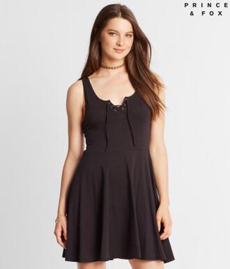 dress skater dress summer dress black dress clothes aeropostale