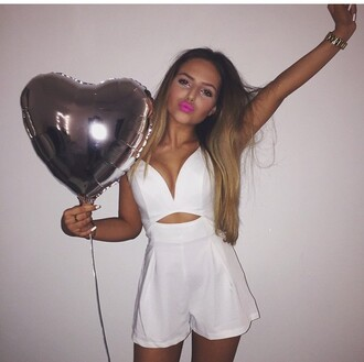 romper white cute cute outfits style white romper heart birthday summer dress summer outfits white dress jacket pretty hot nice cardigan sweater jumper coat marzia cutiepiemarzia grey tassel fray light long short loose jeans top shirt blouse black shoes ruffle winter outfits summer