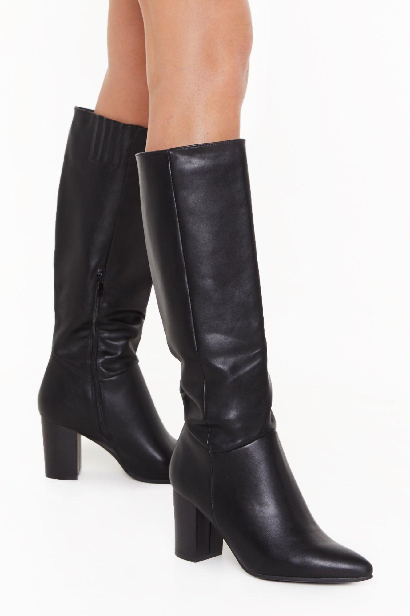 Stay Groovy Heeled Knee-High Boots | Nasty Gal