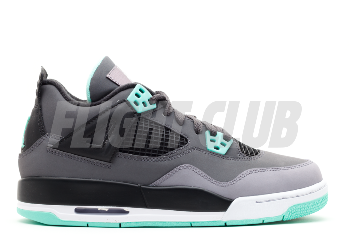 "air jordan 4 retro (gs) ""green glow""  