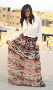 skirt,tribal pattern,maxi skirt,maxi dress,boho,hippie,gypsy,bohemian dress,boho chic,aztec,brown dress,black,chiffon,chiffon skirt,summer outfits,beach dress