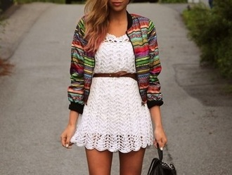 jacket aztec colorful tribal pattern zip up jacket