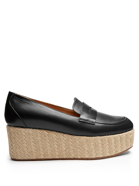 espadrilles leather navy shoes