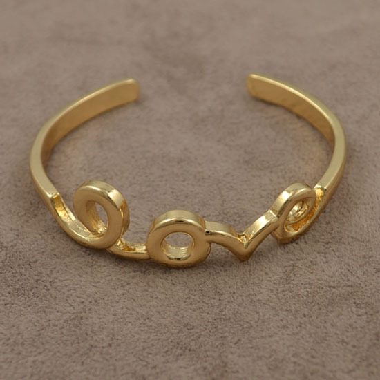 New fashion jewelry gold plated love bangle for women   B689-in Special Store from Jewelry on Aliexpress.com