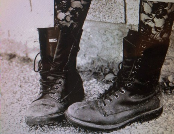 combat boots shoes black boots grunge shoes