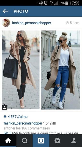 coat beige coat