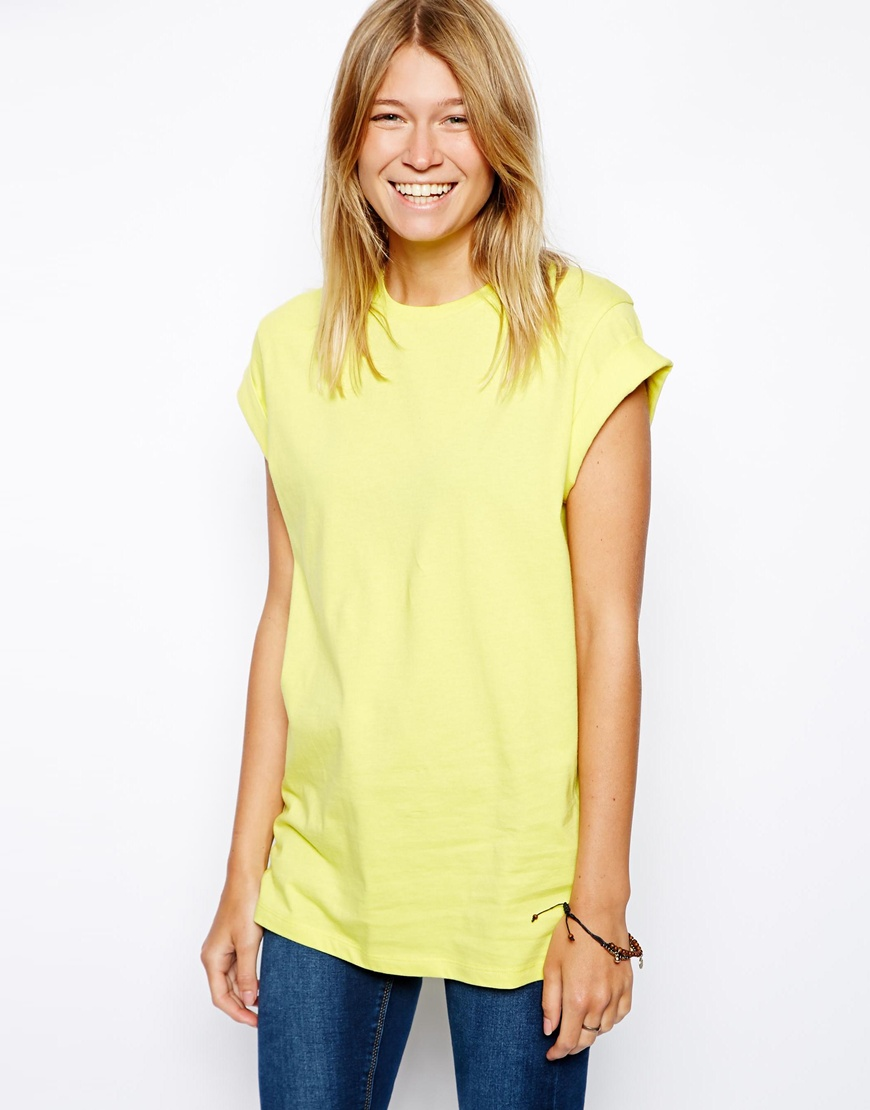 ASOS Boyfriend T-Shirt with Roll Sleeve at asos.com