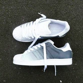 shoes adidas adidas superstars grey white blanc sneakers adidas shoes adidas wings adidas originals adidas supercolor ombre ombre bleach dye sports shoes running shoes cool trendy summer amazing fashion
