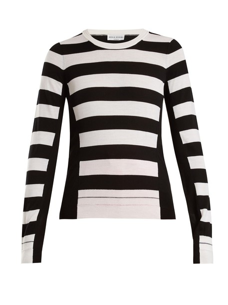 Sonia Rykiel sweater wool knit white black