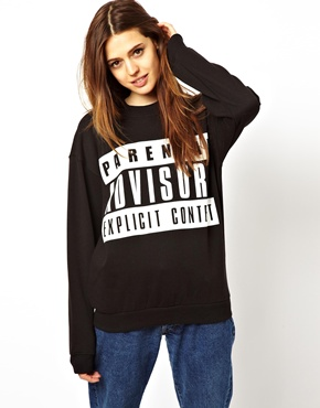 ASOS | ASOS Sweatshirt with Parental Advisory at ASOS