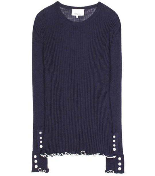 3.1 Phillip Lim sweater wool sweater wool blue