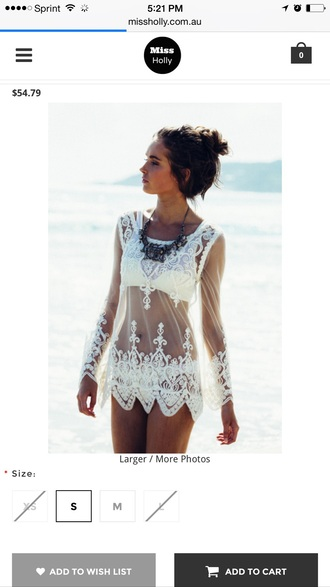 top sheer lace cover up
