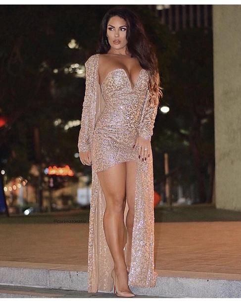 dress gold dress gold gold sequins robe strapless strapless dress sparkle sparkly dress sparkle top