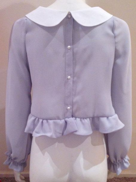 Blouse back cute lovely crop top shirt t shirt for Cropped white collared shirt