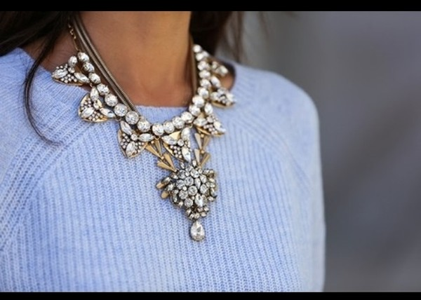 jewels necklace sweater