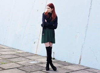 hannah louise fashion blogger dress sweater jacket shoes