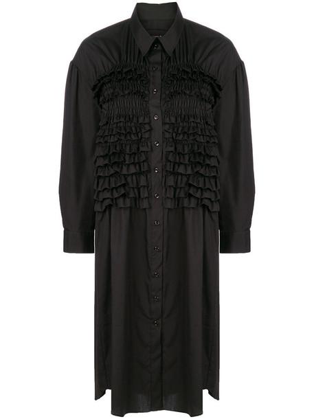 dress shirt dress women cotton black