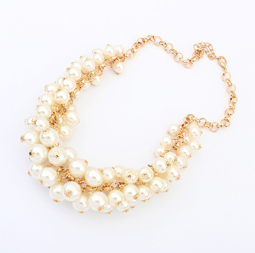 European and American big pearl necklace retro Royal luxury fashion best selling beaded necklaces for women wholesale cxt901538-in Chain Necklaces from Jewelry on Aliexpress.com