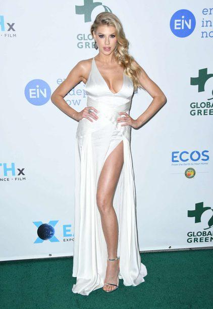 Dress Oscars 2018 Slit Dress White White Dress Gown Prom Dress