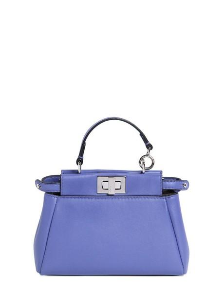 Fendi bag leather bag leather violet