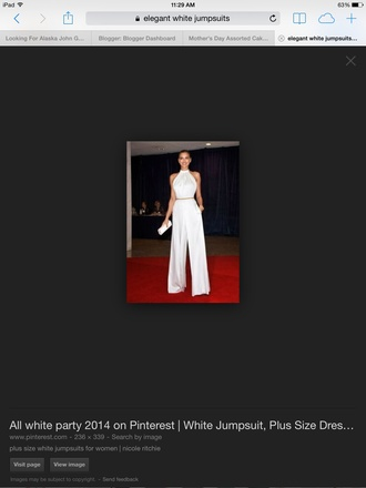 jumpsuit white irina shayk white jumpsuit wide-leg pants celebrity celebrity style red carpet party outfits sexy sexy outfit summer outfits classy elegant cute girly date outfit summer holidays romantic clubwear wedding dress wedding guest wedding clothes dope