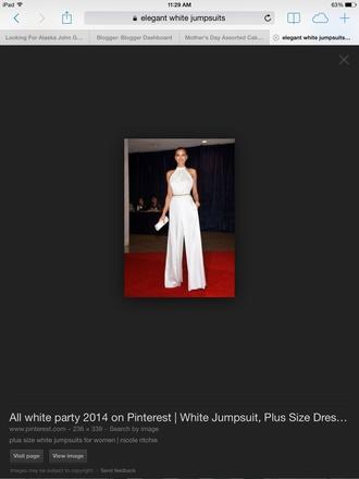 jumpsuit white nicole richie