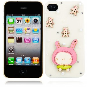 iPhone back covers | Cartoon Doll Style Protective Hard Back Cover Case for iPhone 4/4S Milky WW87008230