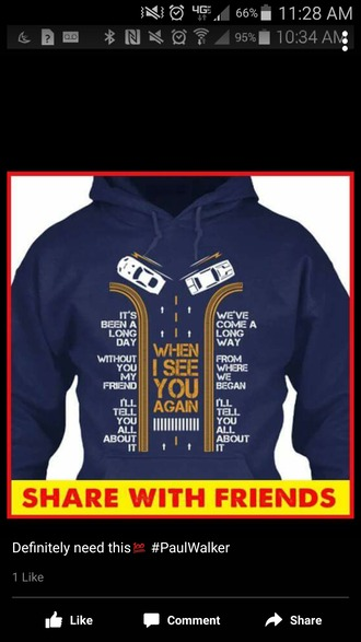 jacket furious 7 hoodie friends friendship