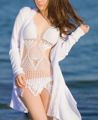Cute handmade woven sexy bikini