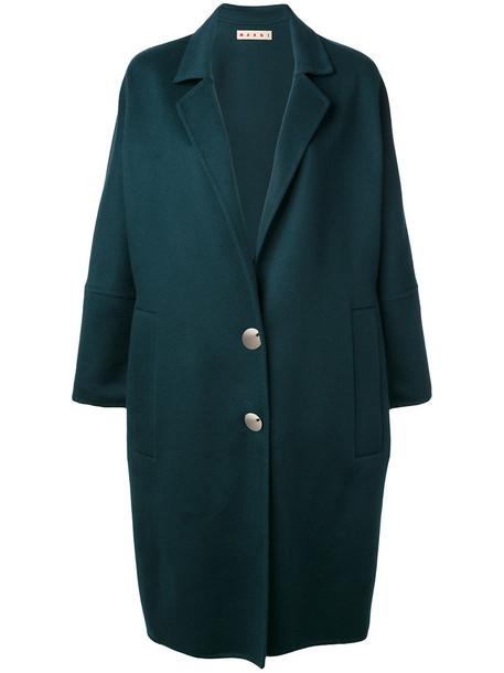 MARNI coat oversized women wool green