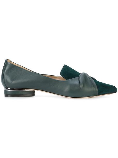 ZAC Zac Posen women leather suede green shoes