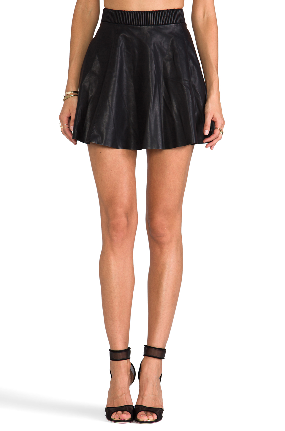 BLANKNYC Faux Leather Skirt in Pussy Cat | REVOLVE