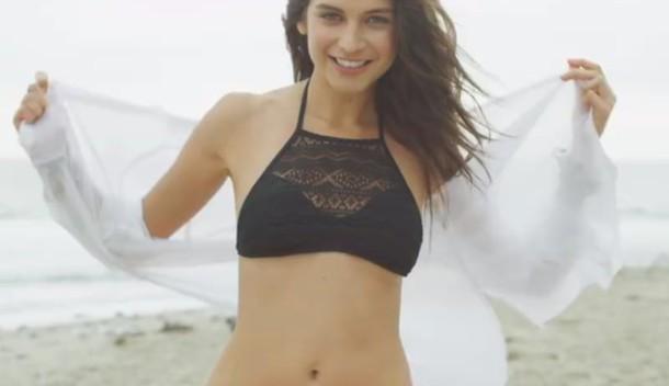 swimwear bikini black swimwear beach crochet halter neck