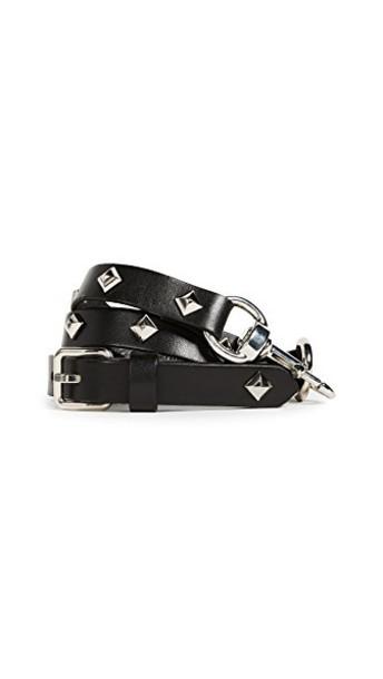 Rebecca Minkoff studded belt studded dog belt silver black
