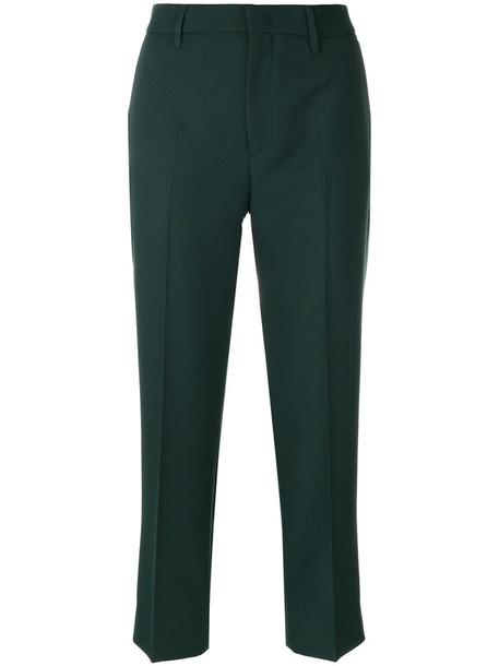 Prada pants cropped pants cropped women green