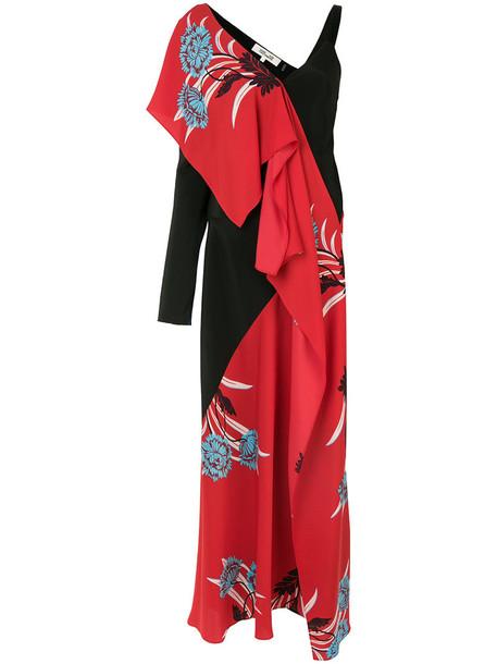 Dvf Diane Von Furstenberg dress print dress women spandex oriental print print silk red
