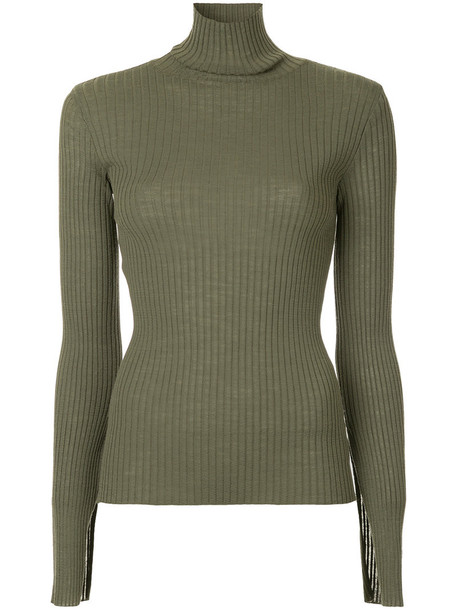 Le Ciel Bleu jumper women wool green sweater