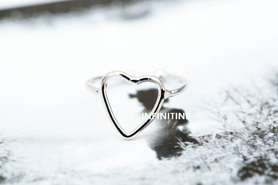 long heart knuckle ring ,RN2349